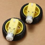 Arduino motor wheel with gear
