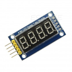 Arduino 4-digit 7SEG LED indicator on 74NS595