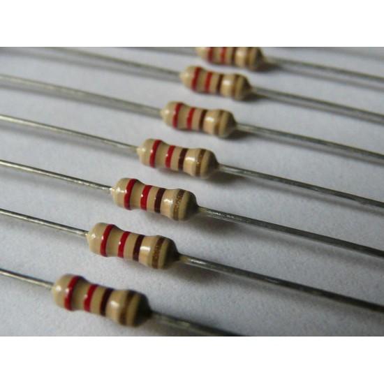 Резистор 680 Ом 680R 0K68 выводной 0,125Вт (5 шт/уп)