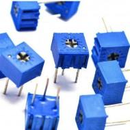 Потенциометр выводной 10K 10кОм под отвердку  (5шт/уп)