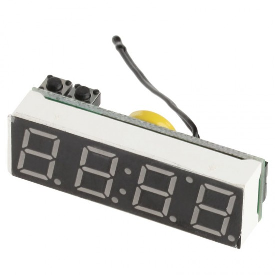 """DS3231sn Clock, voltmeter, car thermometer 3 in 1 red 0.39 """"5-30V"""