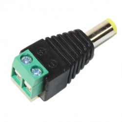 5.5 / 2.1M power plug with terminal block