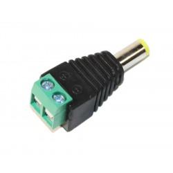 5.5 / 2.1M power plug with terminal block